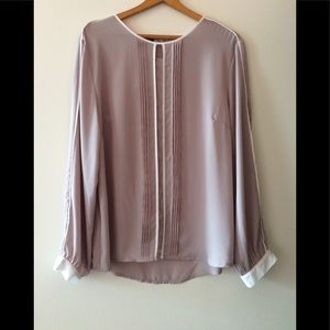 Simply Styled Women's Cream & Tan Blouse